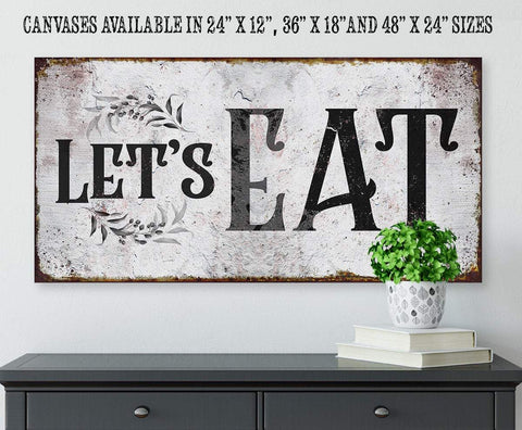 Image of Let's Eat - Canvas