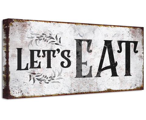 Image of Let's Eat - Canvas Wall Hangings Lone Star Art
