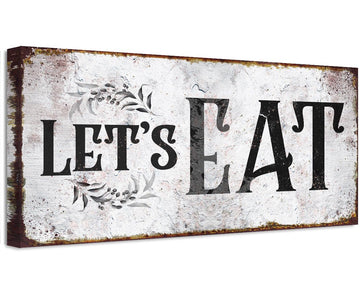 Let's Eat - Canvas Wall Hangings Lone Star Art