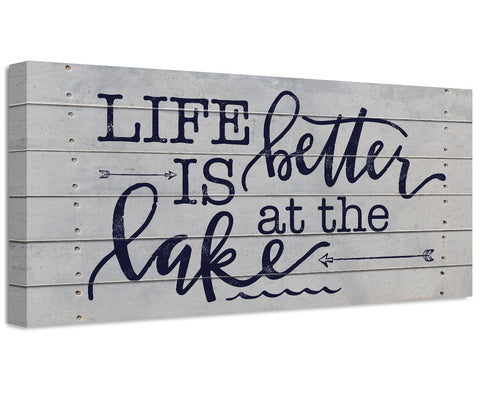 Image of Life Is Better At The Lake - Canvas Wall Hangings Lone Star Art