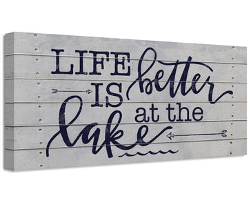 Life Is Better At The Lake - Canvas Wall Hangings Lone Star Art
