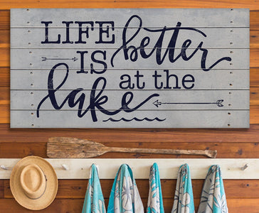 Life Is Better At The Lake - Canvas