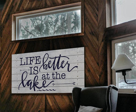 Image of Life Is Better At The Lake - Canvas.
