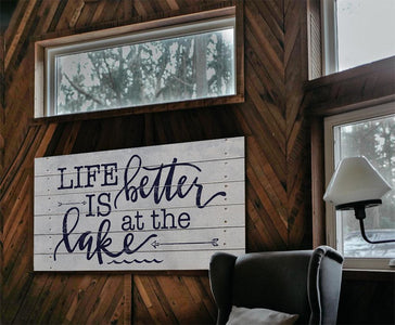 Life Is Better At The Lake - Canvas.