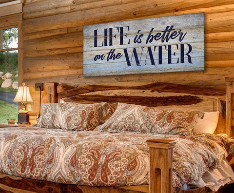 Image of Life Is Better On The Water - Canvas.