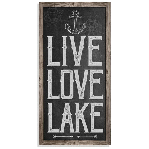 "Image of Live Love Lake - Canvas Lone Star Art 12"" x 24"""