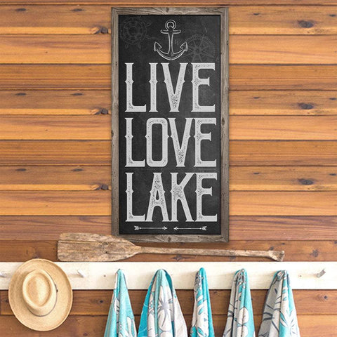 Image of Live Love Lake - Canvas Lone Star Art
