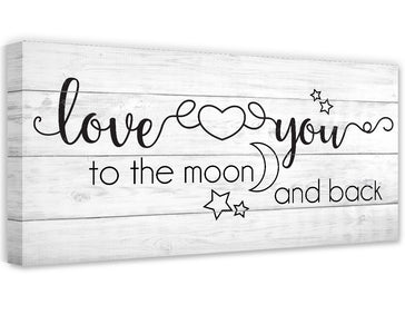 Love You To The Moon And Back - Canvas Wall Hangings Lone Star Art