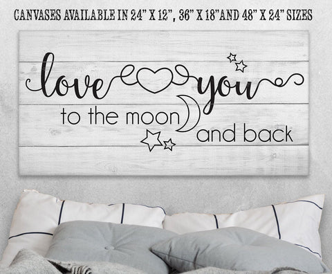 Image of Love You To The Moon And Back - Canvas