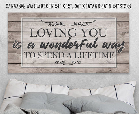 Image of Loving You Is A Wonderful Way - Canvas.