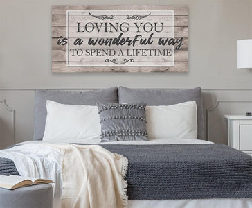 Loving You Is A Wonderful Way - Canvas.