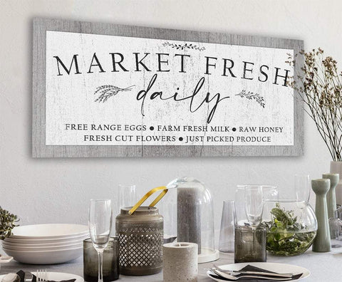 Image of Market Fresh - Canvas Lone Star Art