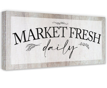 Market Fresh Daily - Canvas Wall Hangings Lone Star Art