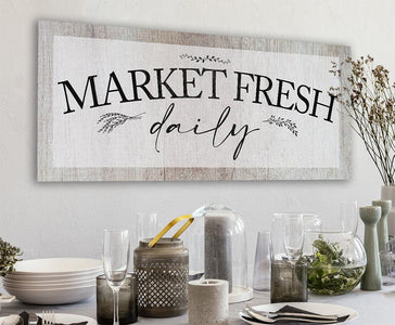 Market Fresh Daily - Canvas.
