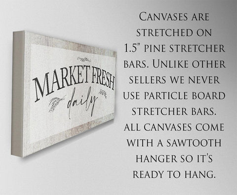 Image of Market Fresh Daily - Canvas.