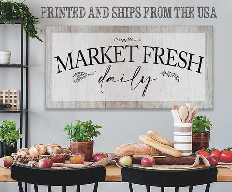 Image of Market Fresh Daily - Canvas