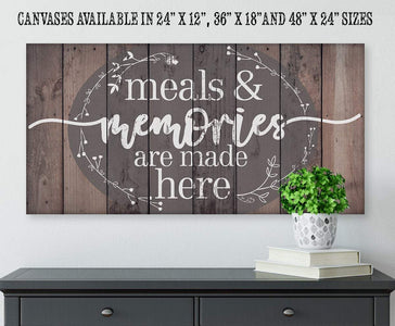 Meals & Memories Are Made Here - Canvas.