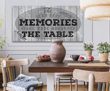 Memories Are Made - Large Canvas- Stretched on a Heavy Wood Frame-Perfect for Dining and Living Room Decor - Makes a Great Housewarming Gift Wall Hangings Lone Star Art