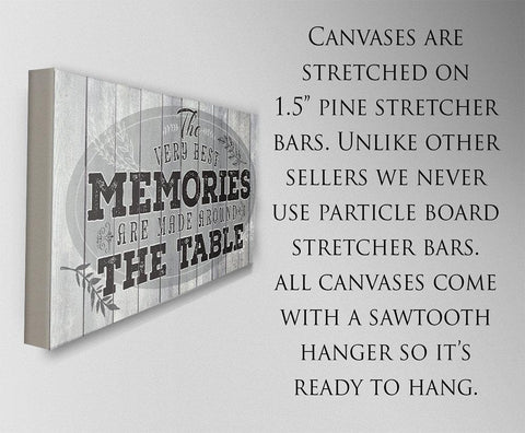 Image of Memories Are Made - Large Canvas- Stretched on a Heavy Wood Frame-Perfect for Dining and Living Room Decor - Makes a Great Housewarming Gift Wall Hangings Lone Star Art