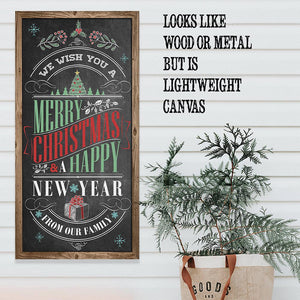 Merry Christmas & A Happy New Year - Canvas Lone Star Art
