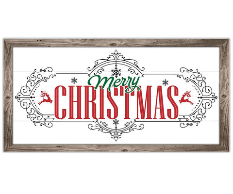 "Image of Merry Christmas - Canvas Lone Star Art 12"" x 24"""