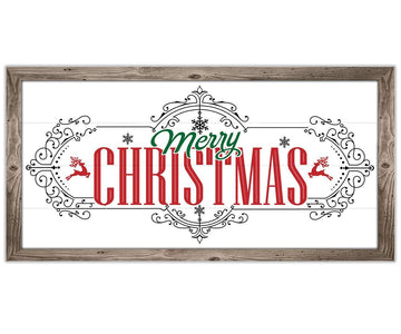"Merry Christmas - Canvas Lone Star Art 12"" x 24"""