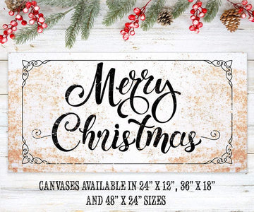 Merry Christmas - Canvas