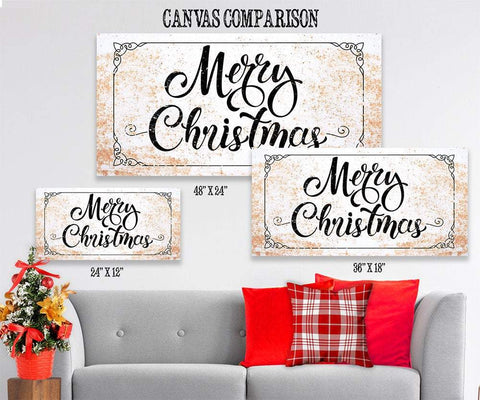 Image of Merry Christmas - Canvas
