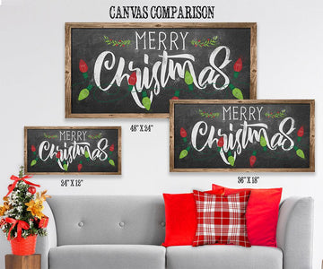 Merry Christmas - Canvas Lone Star Art