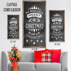 Merry Christmas Happy New Year - Canvas