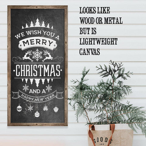 Image of Merry Christmas Happy New Year - Canvas