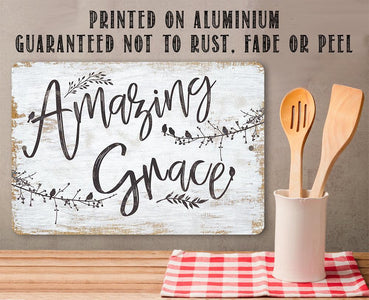 Amazing Grace - Metal Sign.