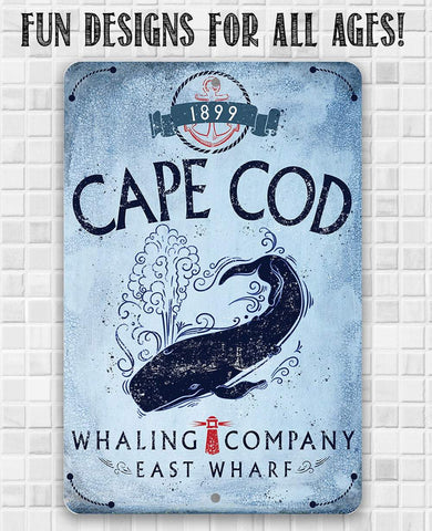 Image of Cape Cod Whaling Company - Metal Sign.