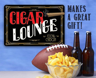 Cigar Lounge - Metal Sign.