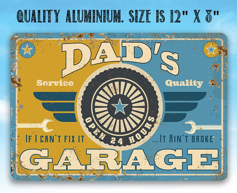 Image of Dad's Garage - Metal Sign.