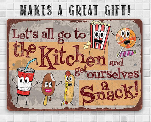 Image of Get Ourselves A Snack - Metal Sign.