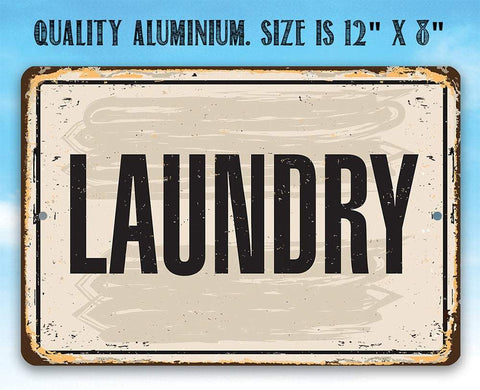 Laundry - Metal Sign.