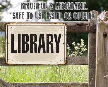 Library  - Metal Sign.