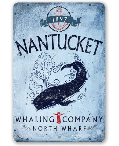 Image of Nantucket Whaling Company - Metal Sign.