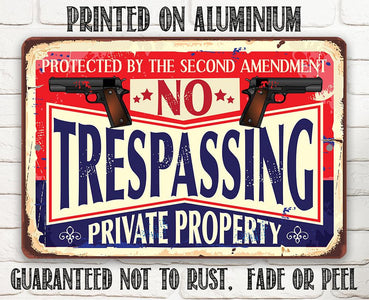 No Trespassing - Metal Sign.