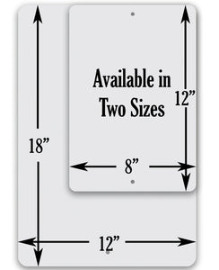 "Metal Sign- Postal Sign -Tin-8""x12"" or 12""x18"" Indoor/Outdoor - Delivery Area Sign for Home or Office Sign."