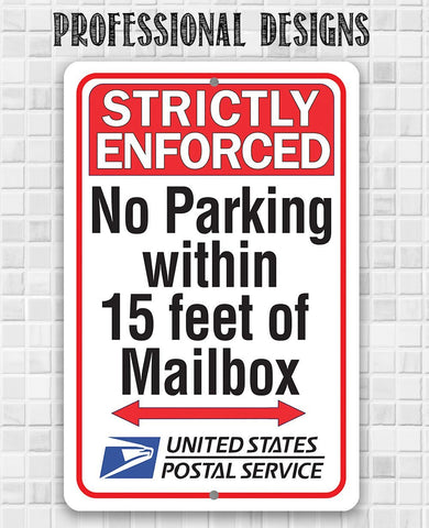 "Image of Metal Sign- Postal Sign -Tin-8""x12"" or 12""x18"" Indoor/Outdoor - Delivery Area Sign for Home or Office Sign."