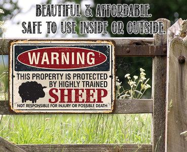Property Protected By Sheep - Metal Sign.