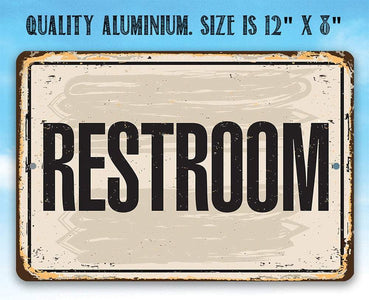 Restroom - Metal Sign.