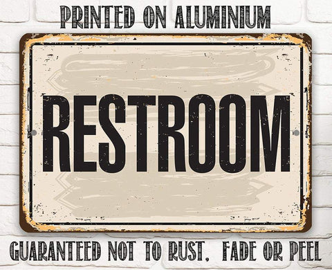 Image of Restroom - Metal Sign.