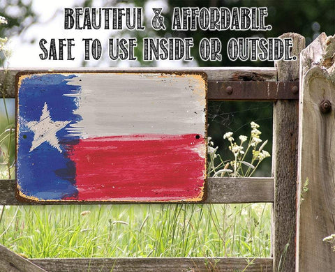 Image of Texas Flag - Metal Sign.