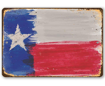 Texas Flag - Metal Sign.