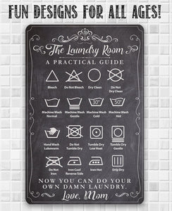 The Laundry Room A Practical Guide - Metal Sign.