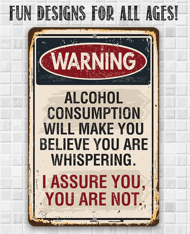 Image of Warning Alcohol Consumption - Metal Sign.