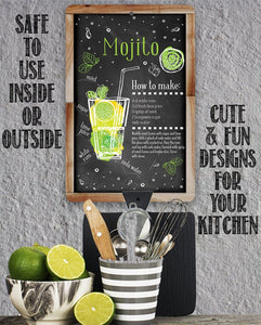 Mojito Bar Recipe - Metal Sign.